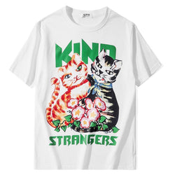 Kind Strangers! Short Sleeve T-shirt, Unisex Tees, Couple's T-shirt, Street Fashion Tee Shirt-TownTiger