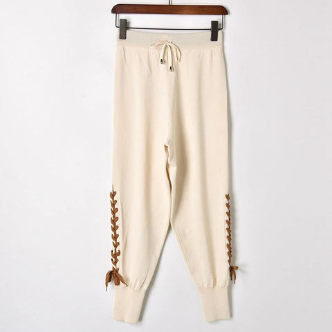 Knitting Jogger! One Size Knitting Pants, Knitwear, Summer, 2 Colors Available-TownTiger
