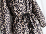 Leopard! Leopard Print Quilted OverCoat , Women Warm Trench Coat Winter Coat 2018 Winter-TownTiger