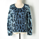Leopard! Long Sleeve Mohair Knitting Tops, Women Tops Knitwear, Fall Knit-TownTiger