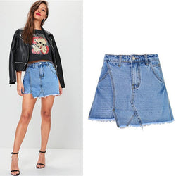 Like a Skirt!Blue Jeans Shorts, Denim Shorts, Women Jeans, Femme Bottoms, Hot Pants-TownTiger