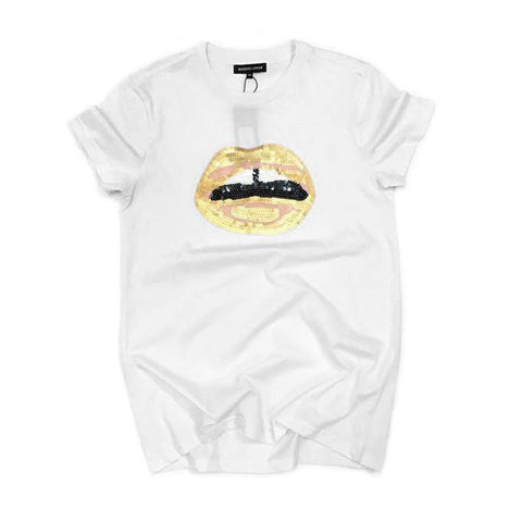 Lips!Short Sleeve T-shirt, Women Tops, Girl's T-shirt, Tee-TownTiger