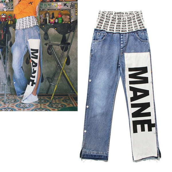 MANE Mané!Blue Jeans, Denim, Bottoms, Women Jeans, Femme Bottoms, Pants Trousers-TownTiger