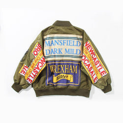 Mansfield! Loose Fitting Printed Bomber Jacket, Women Garments, Bomber Jacket Tops Street Style-TownTiger
