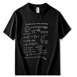 Mathmatics! Short Sleeve T-shirt, Unisex Tees, Couple's T-shirt, Street Fashion Tee Shirt-TownTiger