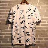 Musical Note!Short Sleeve T-shirt, Unisex Tees, Couple's T-shirt, Street Fashion Tee-TownTiger