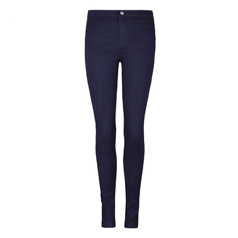 Navy Skinny!Blue Jeans, Denim, Bottoms, Women Jeans, Femme Bottoms, Pants Trousers-TownTiger