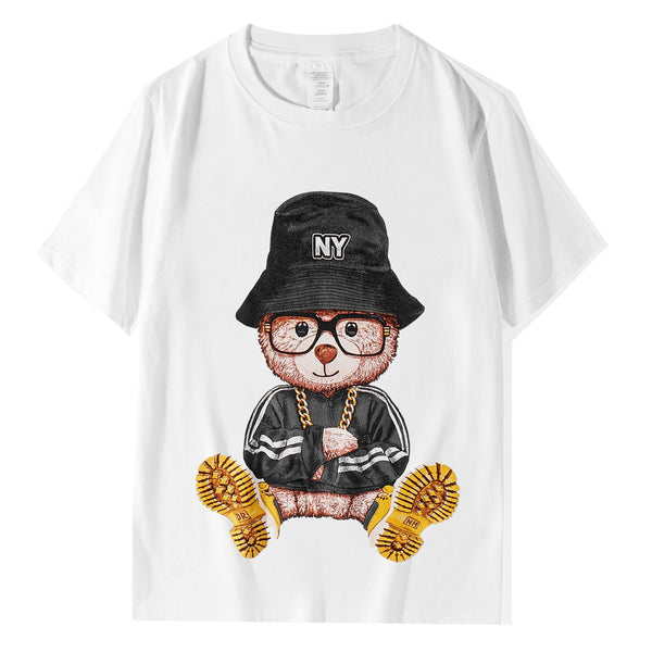 NY Bear! Short Sleeve T-shirt, Unisex Tees, Couple's T-shirt, Street Fashion Tee Shirt