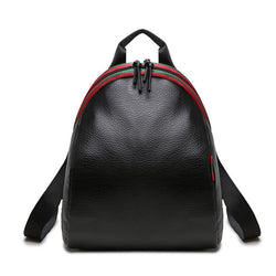 Oliver & Tomato ! Black PU Leather Backpack Bags, Lychee Pattern-TownTiger