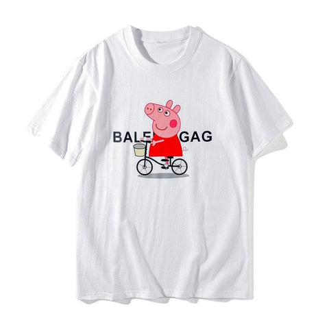 e0cd387d Peppa Pig Bicycle!Short Sleeve T-shirt, Unisex Tees, Couple's T-shirt,