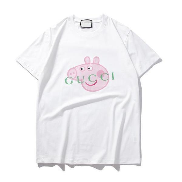 Peppa Pig Gncci! Short Sleeve T-shirt, Unisex Funny Tees, Couple's Tee, Peppa Pig Crappy Off-TownTiger