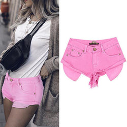 Pink Shorts! Denim Shorts, Women Jeans, Femme Bottoms, Hot Pants Trousers-TownTiger