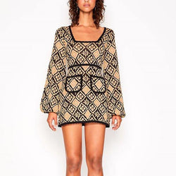 Puffy! Long Sleeve Knitted Dress, Oversized Women Tops Knitwear, Knits Alice Mccall-TownTiger