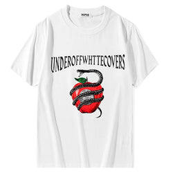 Red Apple and Snake UnderOFF! Short Sleeve T-shirt, Unisex Tees, Couple's T-shirt, Street Fashion Tee Shirt