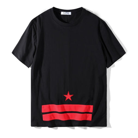 Red Star and Bars!Short Sleeve T-shirt, Unisex Tees, Couple's T-shirt, Street Fashion Tee-TownTiger