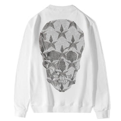 Rhinestones Skull big! Long Sleeve Sweatshirt, Unisex Tops, Unisex T-shirt, Sweater Tee