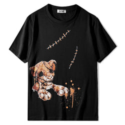 Shabby Toy Lion!Short Sleeve T-shirt, Unisex Tees, Couple's T-shirt, Street Fashion Tee Shirt-TownTiger