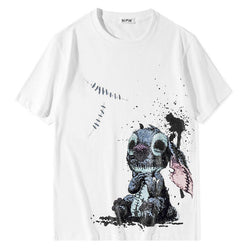 Shabby Toy Stitch!Short Sleeve T-shirt, Unisex Tees, Couple's T-shirt, Street Fashion Tee Shirt-TownTiger