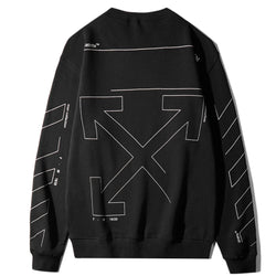 Sketch OFF BW ! Long Sleeve Unisex Sweatshirt, Sweats Tee, OFF-W Men Tops