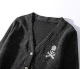 Skull Cardigan! Long Sleeve Knitting Tops, Unisex Tops Knitwear, Street Fashion Knit Sweater-TownTiger