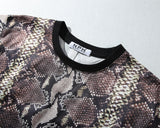 Snake-Skin!Short Sleeve T-shirt, Unisex Tees, Couple's T-shirt, Street Fashion Tee-TownTiger
