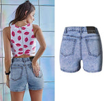 Snow Washed Shorts!Blue Jeans, Denim, Bottoms, Women Jeans, Femme Bottoms, Hot Pants-TownTiger