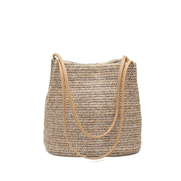Straw Bag! Handmade Straw Braied Shoulder Bag Holiday Style Hand Braid Straw Bags, Beach Bags-TownTiger