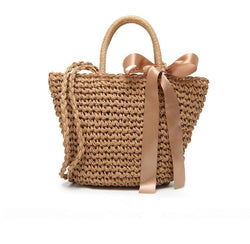 Straw! Handmade Straw Braied HandBag, Holiday Style Tote, Hand Braid Straw Bags, Beach Bags-TownTiger