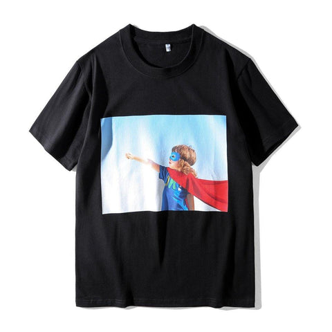 Super Kid! Short Sleeve T-shirt, Unisex Tees, Couple's T-shirt, Street Fashion Tee-TownTiger