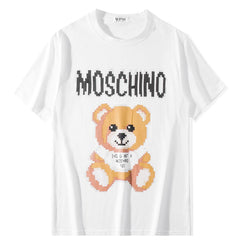Teddy Bear with LOW Resolution Moschin! Short Sleeve T-shirt, Unisex Tees, Couple's T-shirt, Street Fashion Tee Shirt-TownTiger