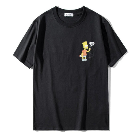 the Simpsons x OFF Classic!Short Sleeve T-shirt, Unisex Tees, Street Fashion Tee Shirt-TownTiger