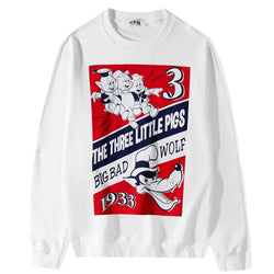 Three Little Pigs 1933! Long Sleeve Sweatshirt, Unisex Tops, Unisex T-shirt, Sweater Tee N