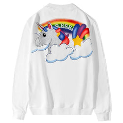 Unicorn and Rainbow! Long Sleeve Sweatshirt, Unisex Tops, Unisex T-shirt, Sweater Tee