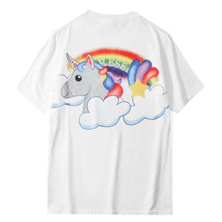 Unicorn and Rainbow! Short Sleeve T-shirt, Unisex Tees, Couple's T-shirt, Street Fashion Tee Shirt