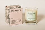 bliss ~ wildflowers scented candle handcrafted by Wild Scents Botanics