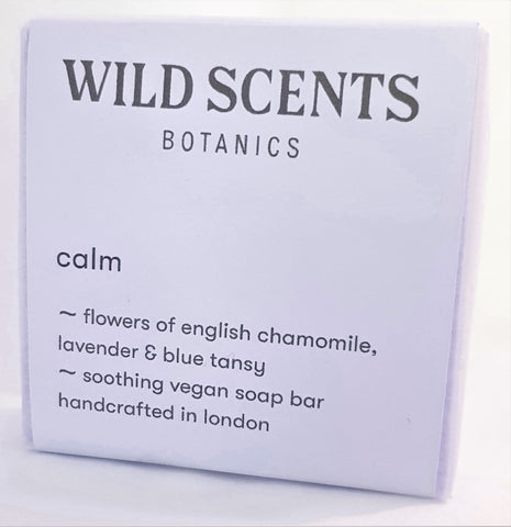 calm vegan soap ~ handcrafted by Wild Scents Botanics
