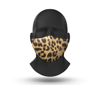 leopard facemask front view