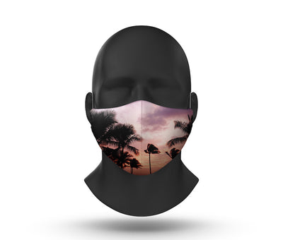 beach palm facemask front view