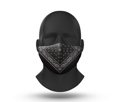 bandana facemask front view