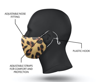 leopard facemask side view