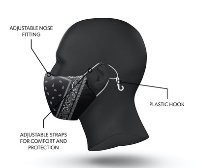 bandana facemask side view