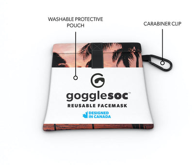 beach palm facemask pouch view