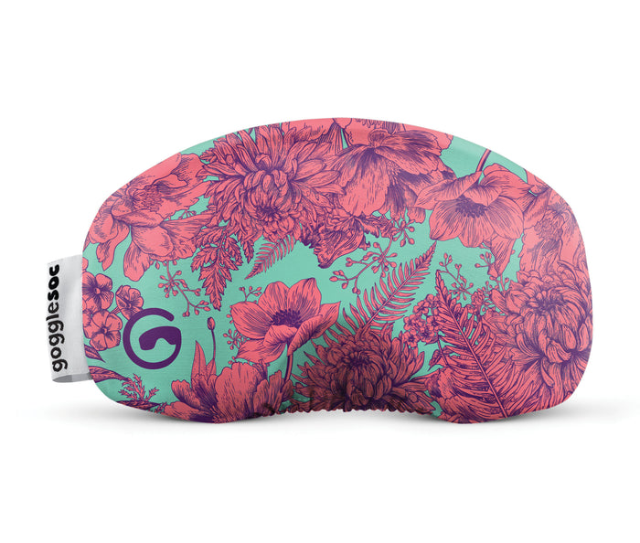 coral gogglesoc goggle cover gogglesock goggle sock floral goggle cover microfibre microfiber goggle protector protection