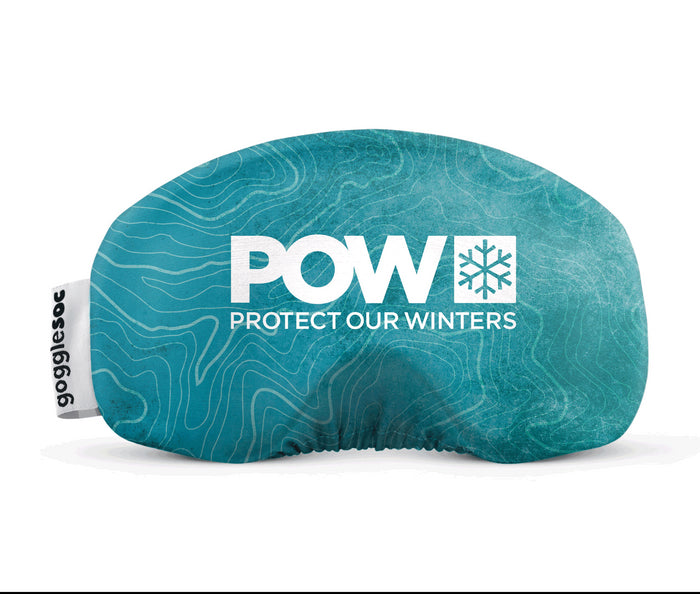 gogglesoc x POW goggle cover protect our winters climate change global warming
