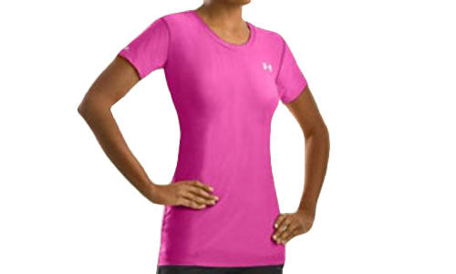 Womens Under Armour HeatGear Fitted Base Shortsleeve Tee