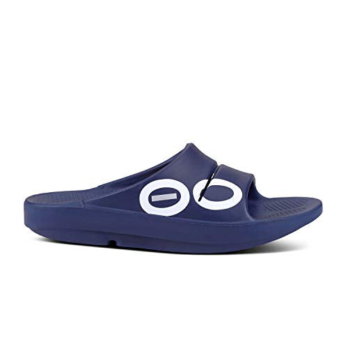 OOFOS - Post Exercise Active Sport Recovery Slide Sandal Navy