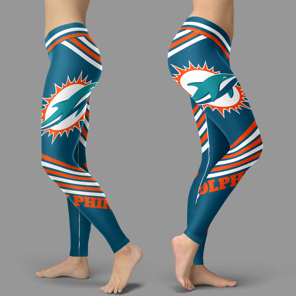 Straight Cute Beautiful Attractive Miami Dolphins Leggings