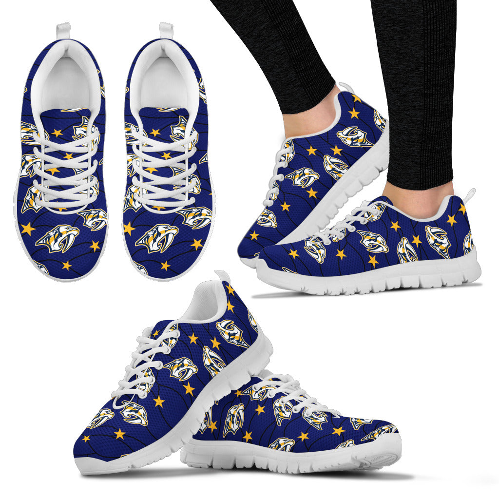 Star Twinkle Night Nashville Predators Sneakers