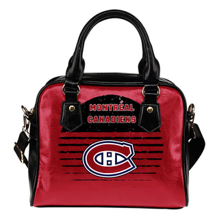 Back Fashion Round Charming Montreal Canadiens Shoulder Handbags