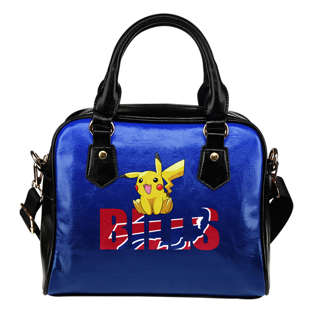 Pokemon Sit On Text Buffalo Bills Shoulder Handbags